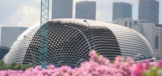 Le théâtre de l'Esplanade à Singapour