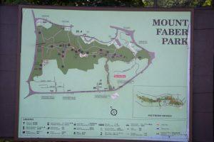 Randonnée Southern Ridges qui débute au Mont Faber à Singapour